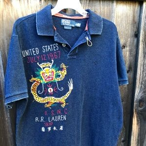 Ralph Lauren Embroidered Polo, XL